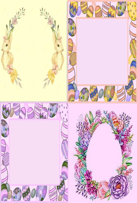 Egg Frame Medley #2 Cross Stitch Fabric