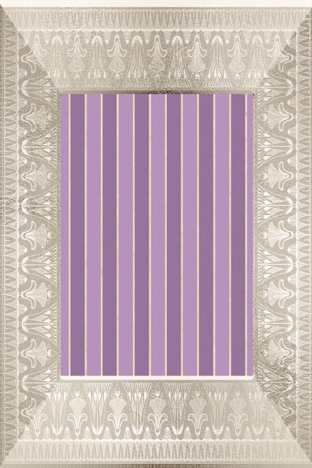 Purple Stripes Frame Cross Stitch Fabric