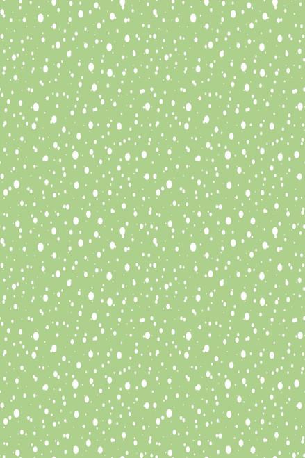 Snow on Light Green Cross Stitch Fabric