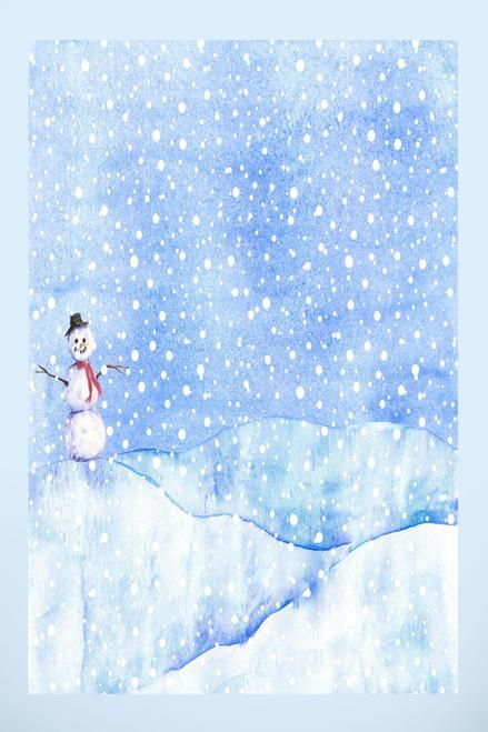 Snowman's Dream Cross Stitch Fabric