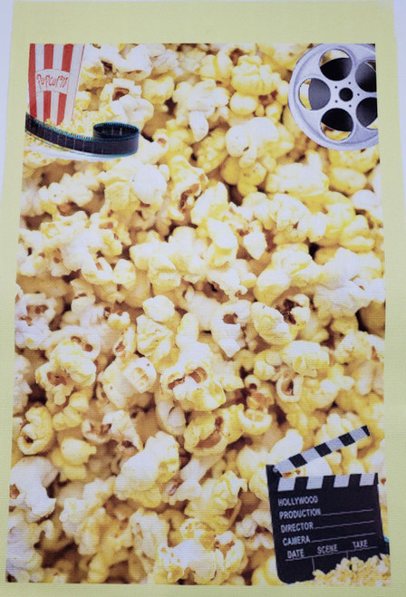 Let's Go To The Movies Cross Stitch Fabric