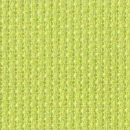 Green Parrot Solid Color Cross Stitch Fabric