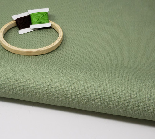 Forest Green Solid Color Cross Stitch Fabric