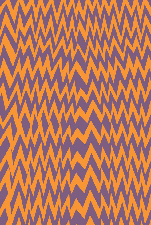 Halloween zigzags - Patterned Cross Stitch Fabric