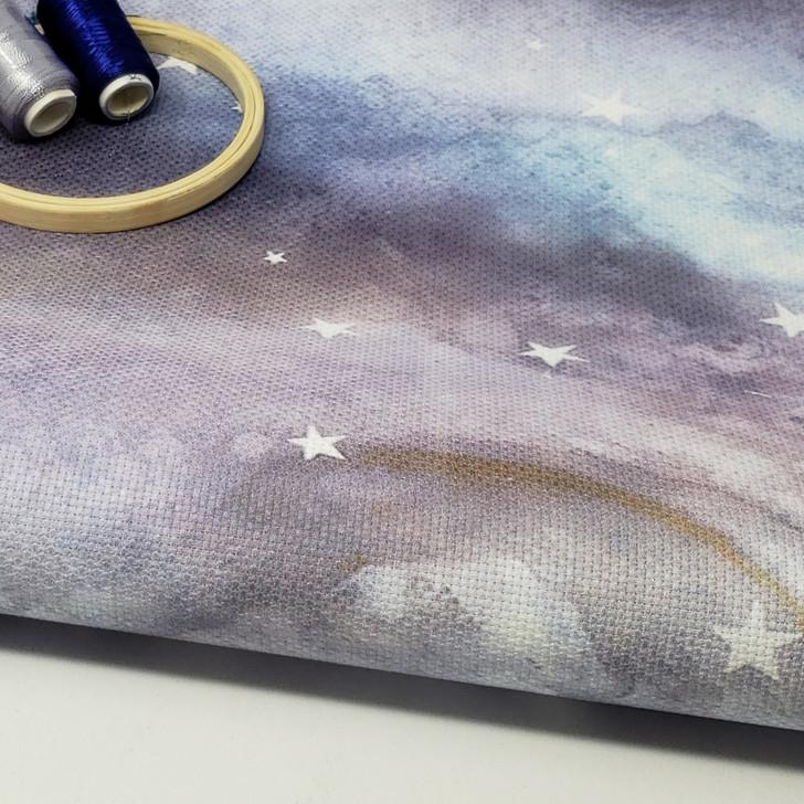 Creationist Purple  - Patterned Cross Stitch Fabric