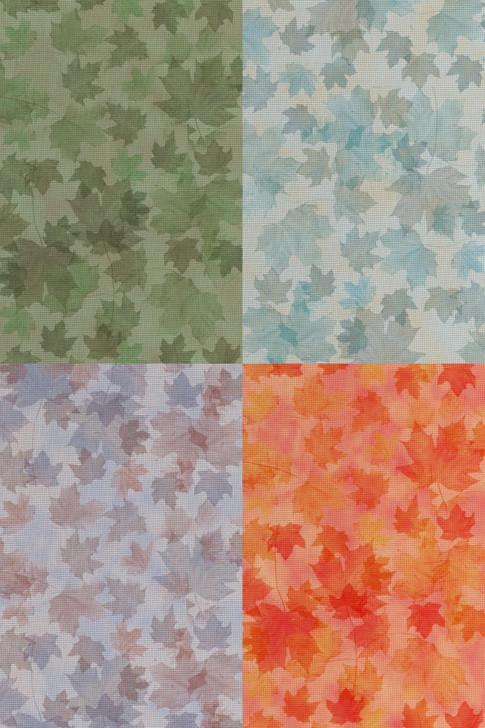 Autumn Medley  - Patterned Cross Stitch Fabric