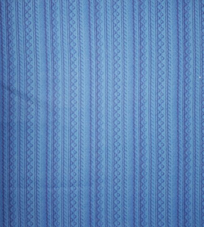 Blue Knit Cross-stitch Fabric