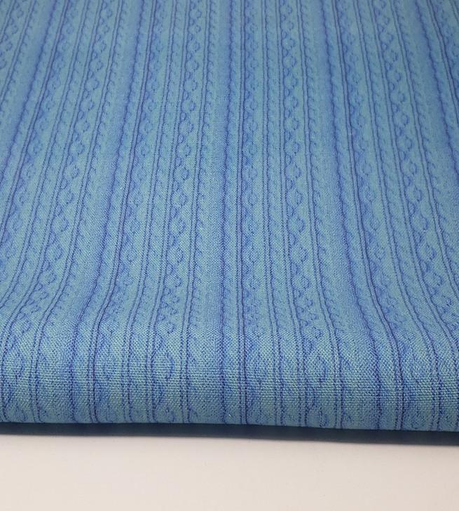 Baby Blue Knit Cross-stitch Fabric