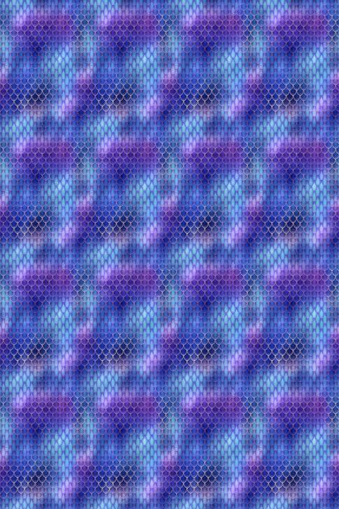 Mermaid Scales Purple Cross Stitch Fabric