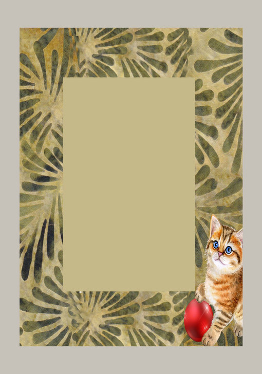 Kitty Frame Cross Stitch Fabric