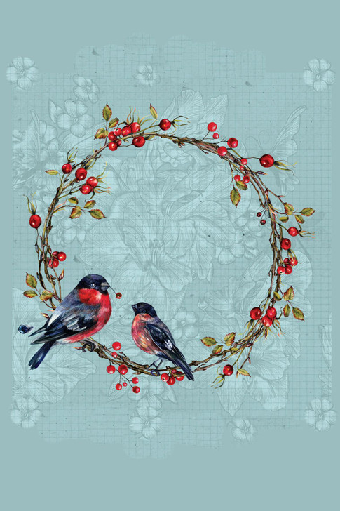 Round Bird Frame Cross Stitch Fabric