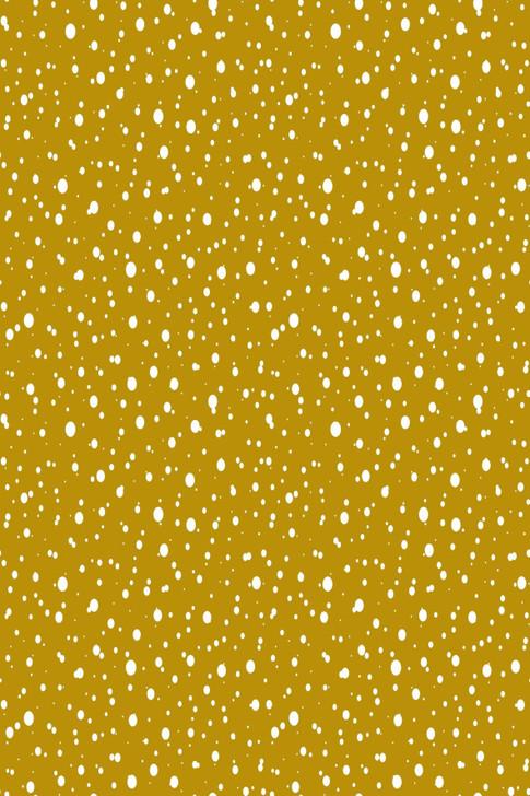 Snow on Gold Cross Stitch Fabric
