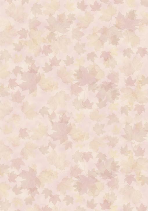 Light Autumn Leaves Cross Stitch Fabric