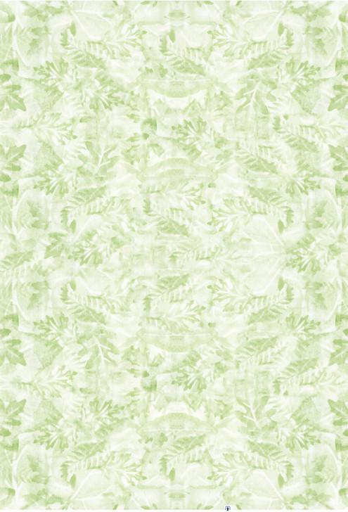 Leaf Impressions Green Cross Stitch Fabric