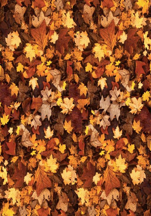 Yellow Autumn Leaves Cross Stitch Fabric