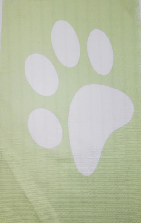 Large Paw on Green Cross Stitch Fabric