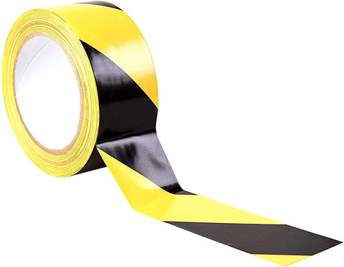 Yellow & Black Self Adhesive Floor Marking Tape