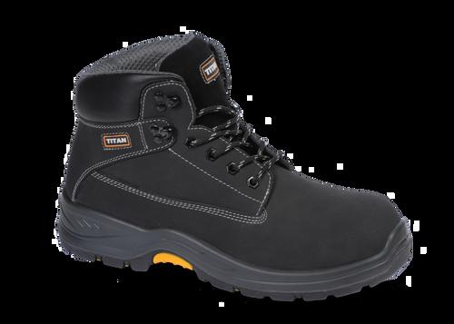 TITAN Holton black nubuck safety boot