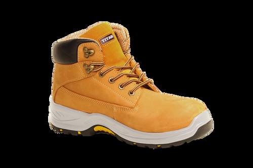 TITAN Holton honey / tan nubuck safety boot