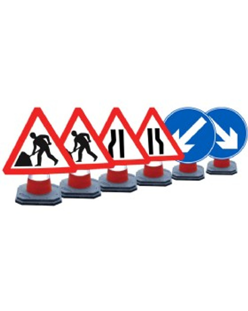600mm CONE SIGNS CHAPTER 8 SET OF 6