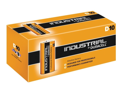 DURACELL INDUSTRIAL D BATTERIES (PK.10)