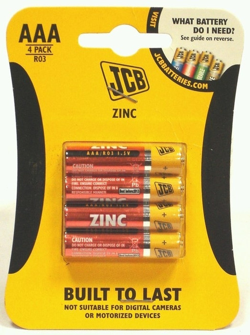 JCB ZINC AAA BATTERIES (PK.4)