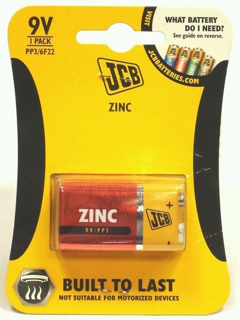 JCB ZINC PP3 BATTERIES (EACH)