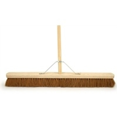 """18"""" SOFT COCO BRUSH WITH HANDLE"""
