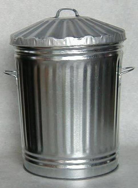 70LTR GALVANISED STEEL BIN WITH LID