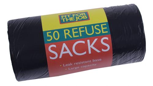 BLACK BIN BAGS (ROLL 50)