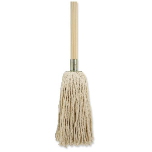 NO.16 COTTON MOP HEAD WITH METAL SOCKET AND WOODEN HANDLE