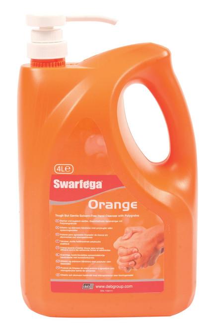 4LTR SWARFEGA ORANGE IN PUMP BOTTLE HAND CLEANER