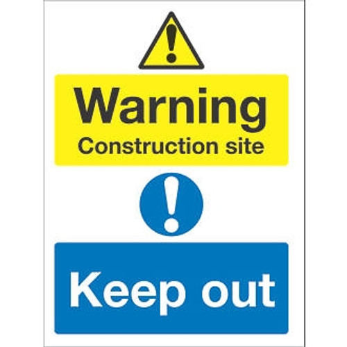 600 x 200 CONSTRUCTION SITE KEEP OUT SIGN