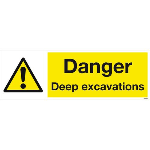 600 x 200 DANGER DEEP EXCAVATIONS SIGN
