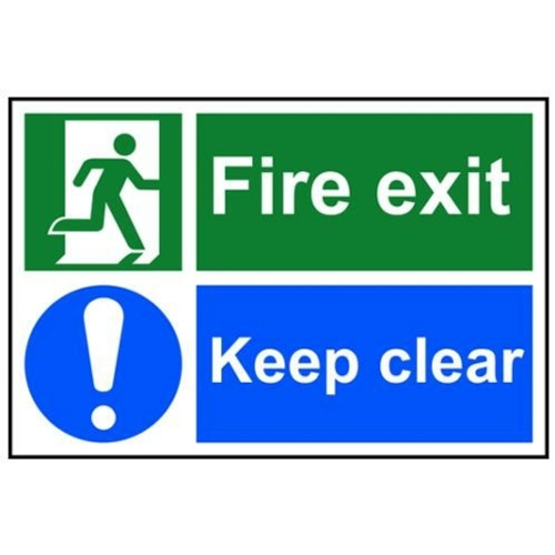 400 x 200MM FIRE EXIT KEEP CLEAR SIGN