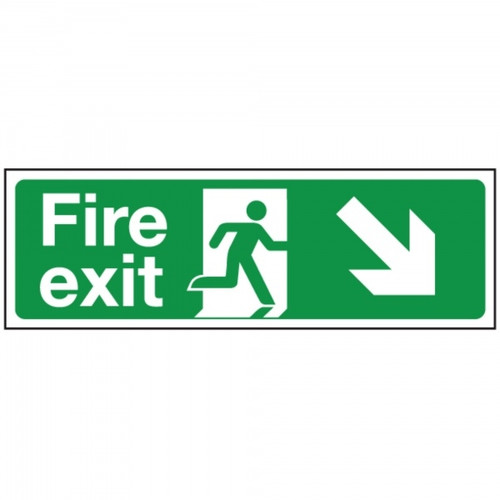 400 x 150MM FIRE EXIT RIGHT SIGN