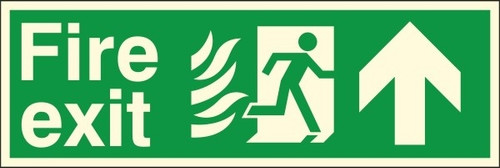400 x 150MM FIRE EXIT UP SIGN