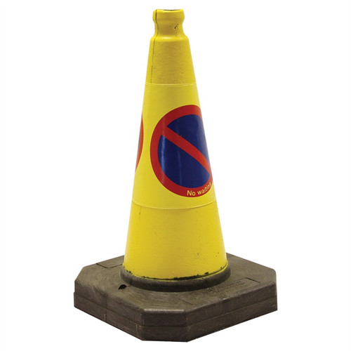 "450MM (18"") RUBBER 1 PIECE NO WAITING/PARKING CONE"