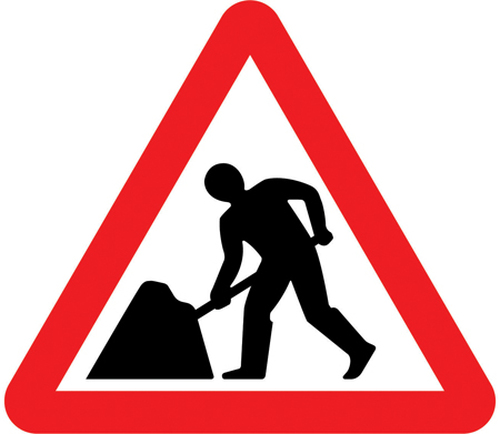 600MM ROAD WORKS AHEAD SIGN PLATE
