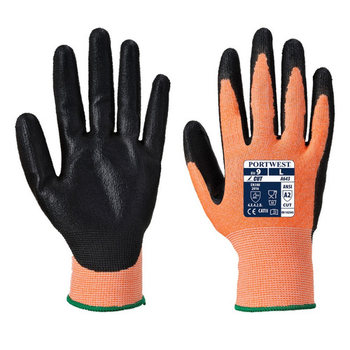 Orange/Amber Cut Level 3 Glove