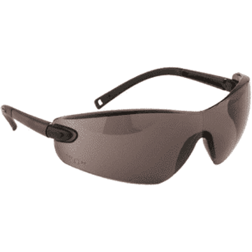 PW34 Profile Smoked Safety Glasses With Neck Cord