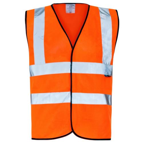 Orange High Vis Sleeveless Waistcoat