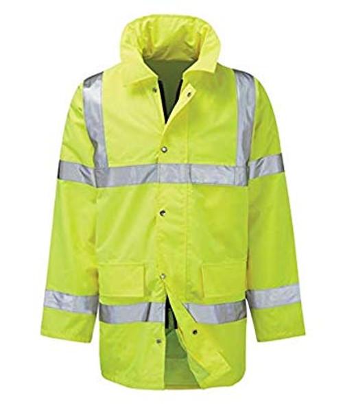Yellow High Vis Padded Coat