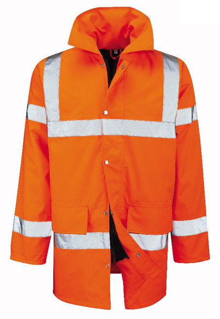 Orange High Vis Padded Coat