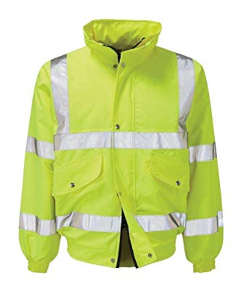 Yellow High Vis Padded Bomber Jacket