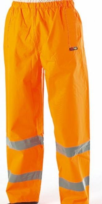 Orange High Vis Waterproof Over Trousers