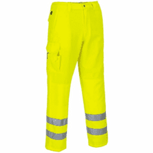 Yellow High Vis Poly Cotton Work Trousers