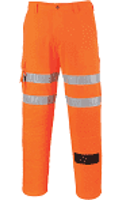 Orange High Vis Poly Cotton Work Trousers