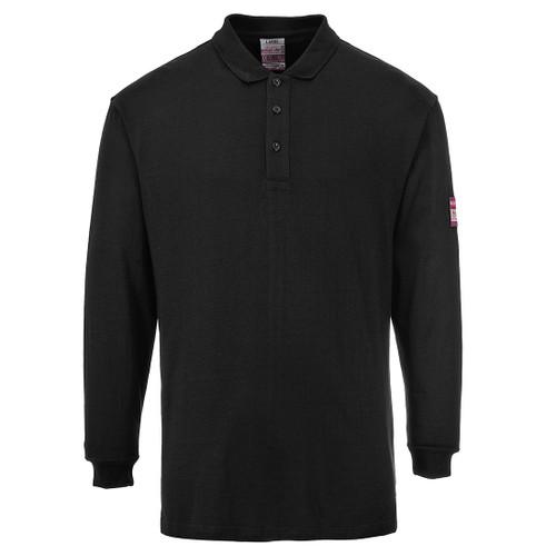 Navy Flame Retardant Long Sleeve Polo Shirt