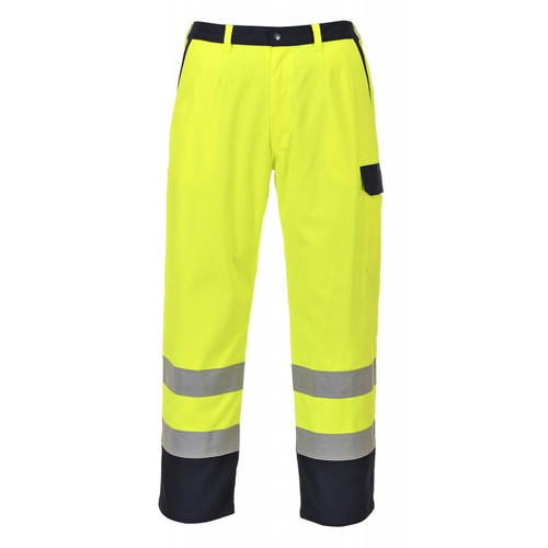 High Vis Yellow Flame Retardant Work Trousers
